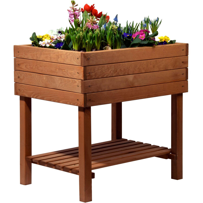 dobar hochbeet mit ablageboden 80 cm x 60 cm x 80 cm braun kaufen bei obi. Black Bedroom Furniture Sets. Home Design Ideas