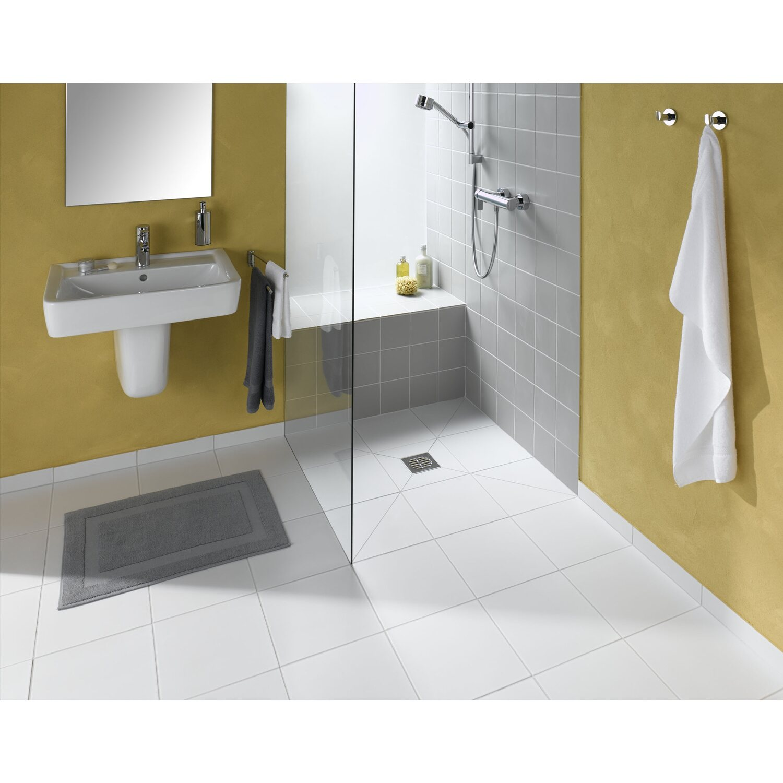 Bodenebenes verfliesbares duschelement rechteckig 90 cm x for Planschbecken rechteckig obi