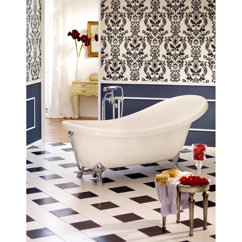 Freistehende Badewanne Azur 174,5 cm x 83 cm Weiß