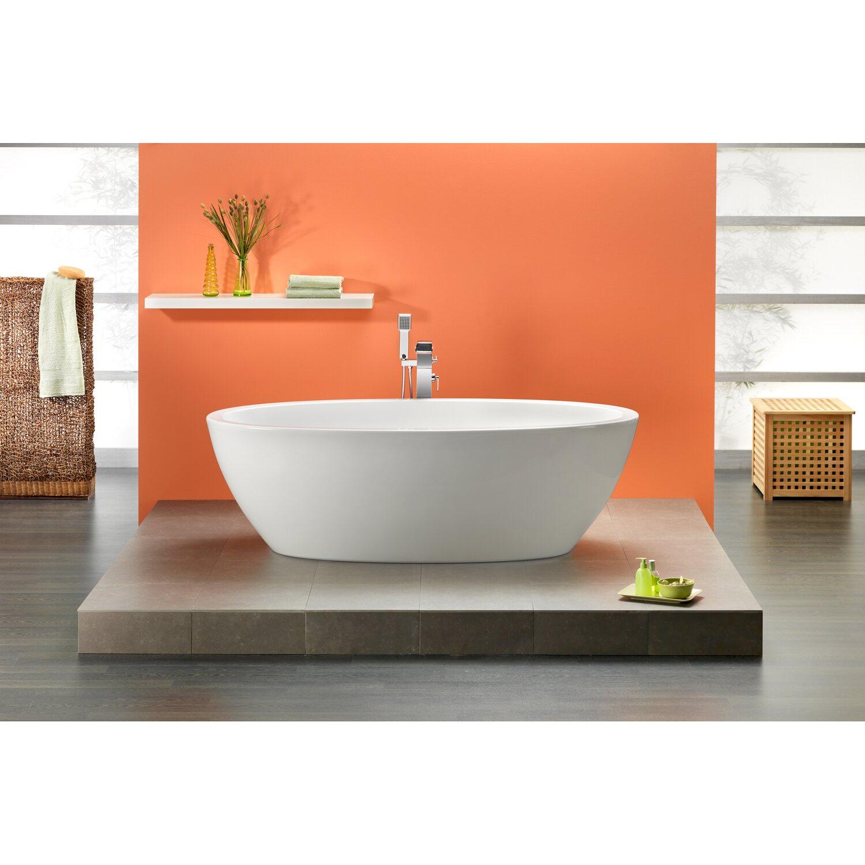 Freistehende Badewanne Latina 190 cm x 94 cm Weiß kaufen bei OBI