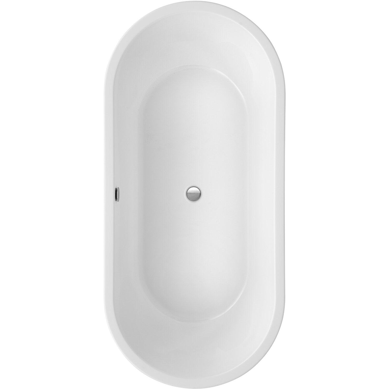 Freistehende Badewanne Carney 190 cm x 89,5 cm Weiß | Bad > Badewannen & Whirlpools > Freistehende Badewannen | Weiß | Sanitäracryl | Ottofond