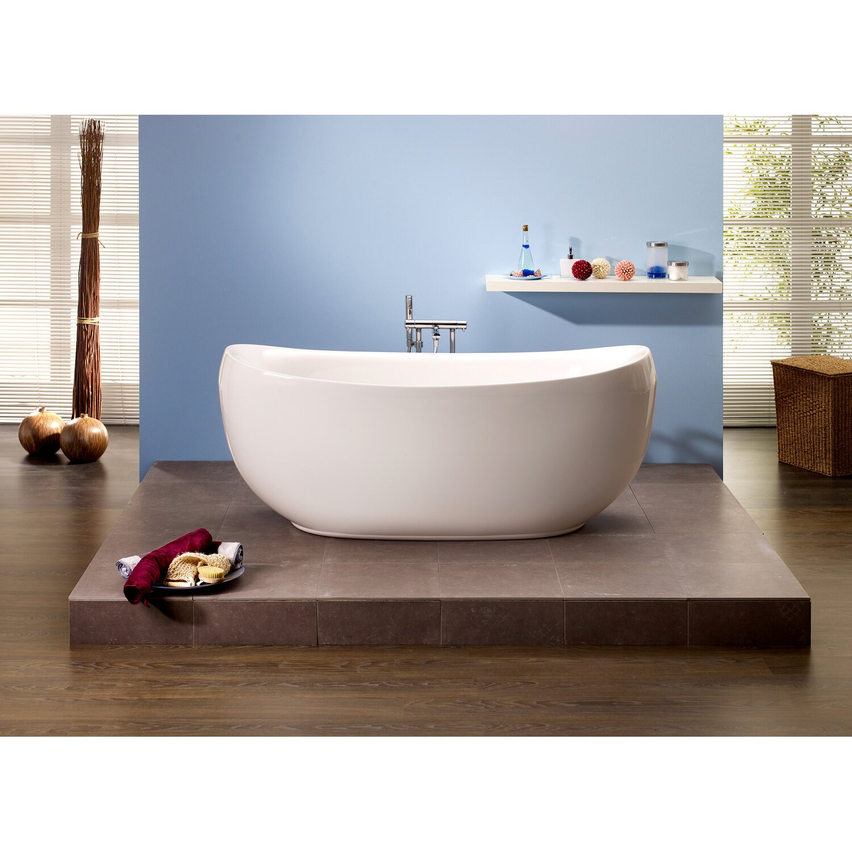Freistehende Badewanne Ventura 180,5 cm x 83,5 cm Weiß kaufen bei OBI