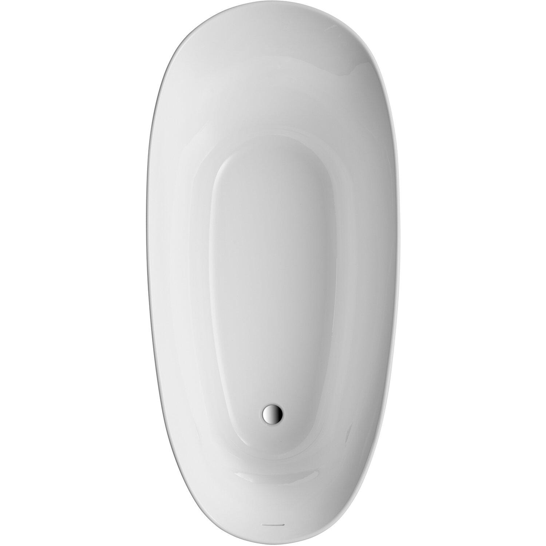 Freistehende Badewanne Aviva 180 Cm X 85 Cm Schwarz Weiß