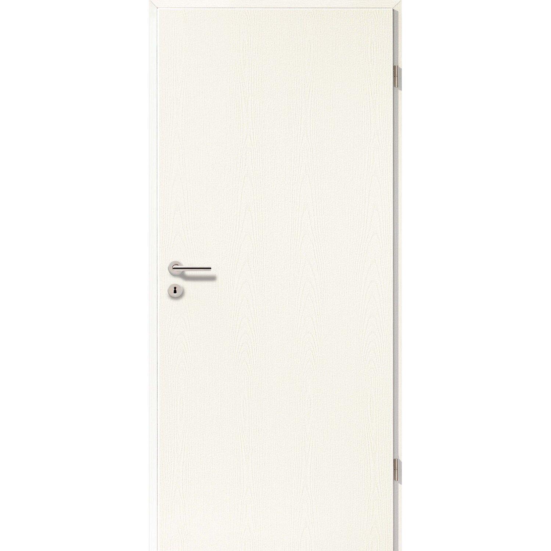 Innentüren weiß bauhaus  Zimmertür CPL Esche Holznachbildung (GL22) 73,5 cm x 198,5 cm DIN ...