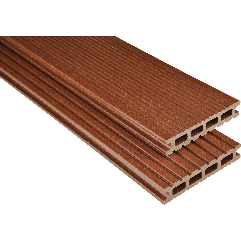 Kovalex  WPC Terrassendiele Exklusiv mattiert Braun 2,6 x 14,5 x 250 cm