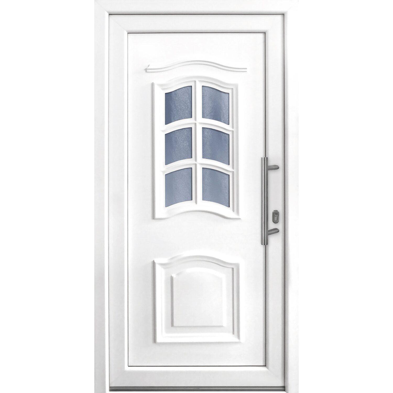 Haustür Weiß kunststoff haustür 100 cm x 200 cm k003 anschlag rechts weiß kaufen