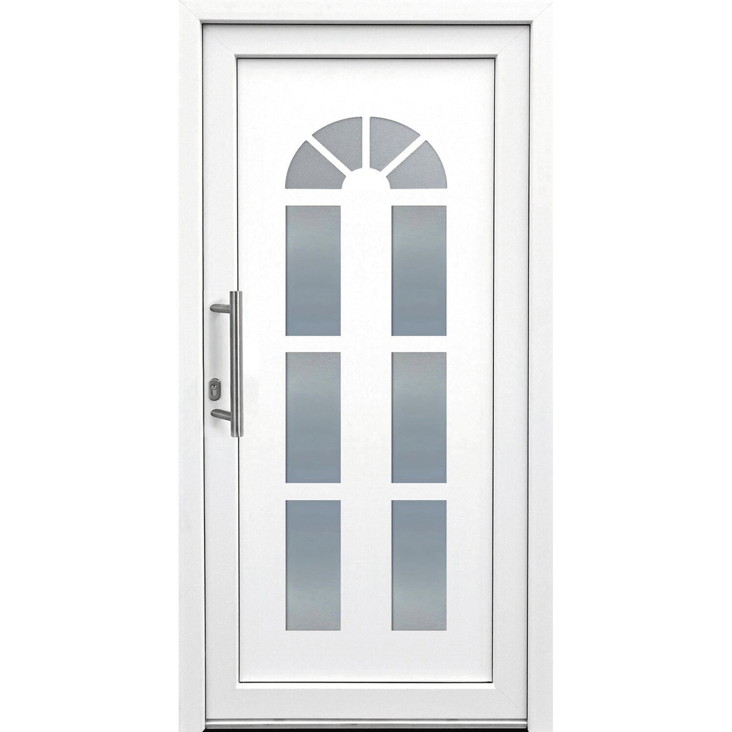 kunststoff haust r 110 cm x 210 cm k012 anschlag links wei kaufen bei obi. Black Bedroom Furniture Sets. Home Design Ideas