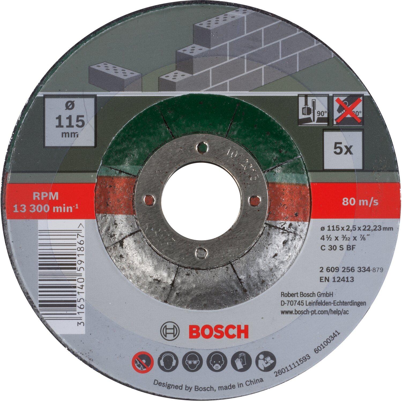 Bosch Trennscheiben Set Diy Gekropft Fur Stein 115 Mm 5 Teilig