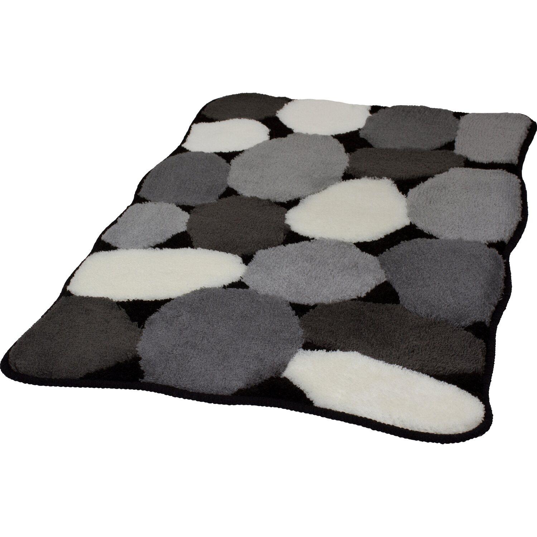 Kleine Wolke Badteppich Stone Schwarz 60 cm x 100 cm kaufen bei OBI