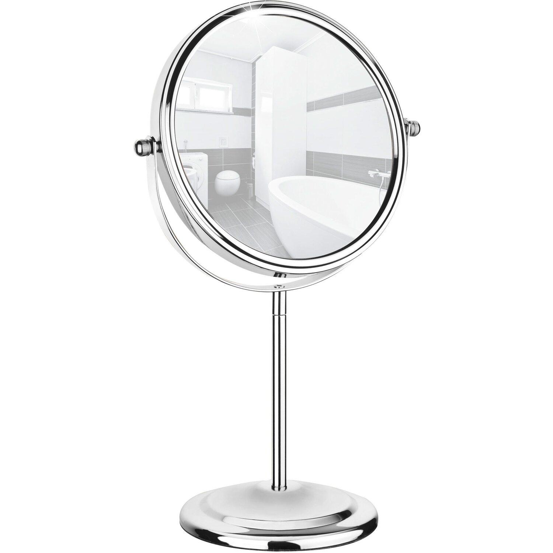 Wenko Kosmetikspiegel Silber 31,5 cm x 20 cm x 12 cm | Bad > Bad-Accessoires > Kosmetikspiegel | Silber | Stahl - Metall - Glas | Wenko