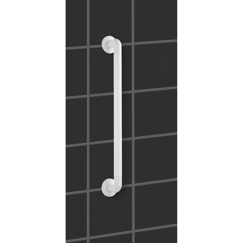 Badewanne und an der Toilette stabiler Haltegriff zum Bohren aus rostfreiem Aluminium /& Kunststoff 43 x 7 x 8 cm WENKO Wandhaltegriff Secura 43 cm lang f/ür sicheren Halt in Dusche Chrom