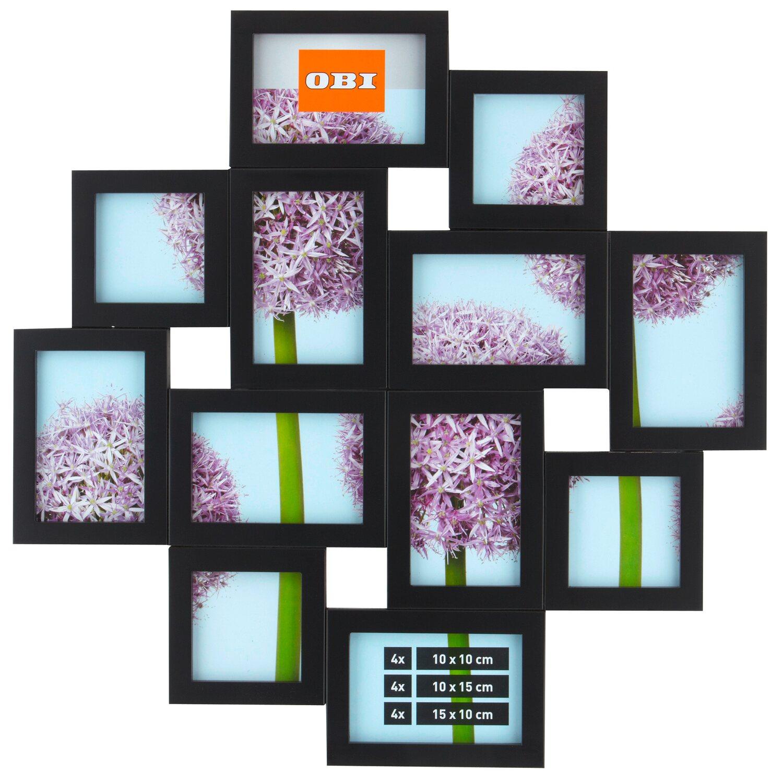 OBI Multi-Bilderrahmen für 12 Bilder Schwarz kaufen bei OBI