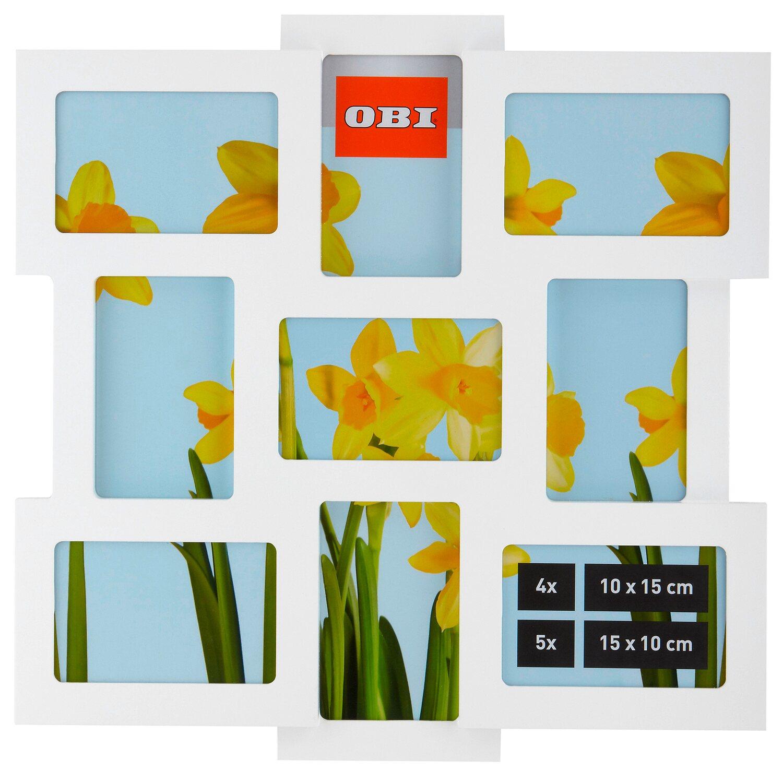 OBI Multi-Bilderrahmen für 9 Bilder Weiß kaufen bei OBI