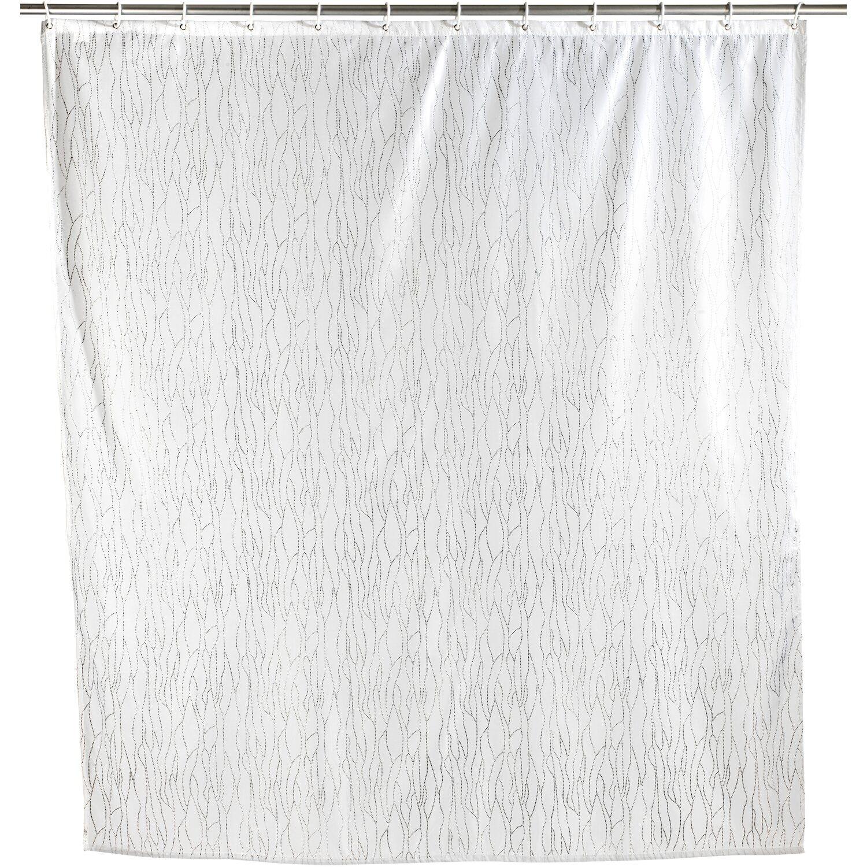Wenko Duschvorhang Deluxe Weiß 200 cm x 180 cm