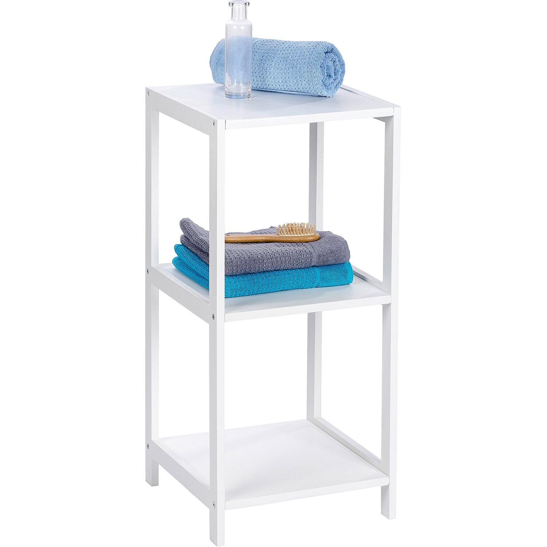 wenko regal oslo echtholz wei 3 etagen 76 cm x 36 cm x 36 cm kaufen bei obi. Black Bedroom Furniture Sets. Home Design Ideas