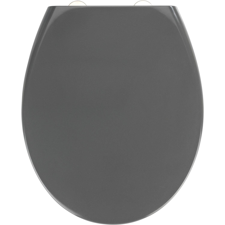 Wenko Premium Wc Sitz Absenkautomatik Samos Grau 37 5 Cm X 44 5 Cm