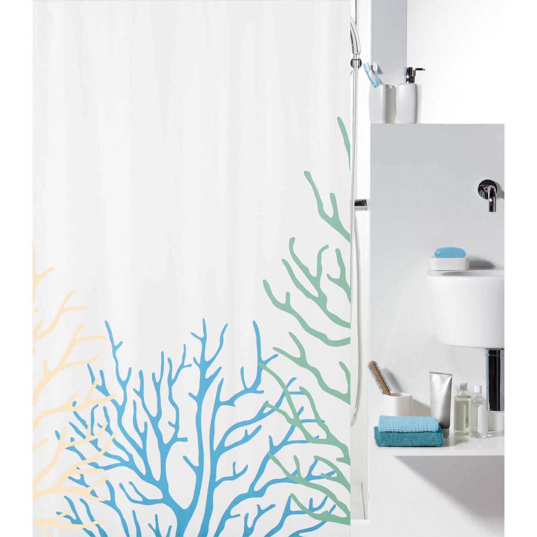 spirella duschvorhang textil coral acqua sand 200 cm x 180 cm kaufen bei obi. Black Bedroom Furniture Sets. Home Design Ideas
