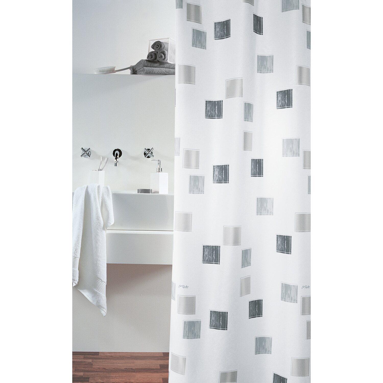 spirella duschvorhang textil milano silber 200 cm x 120 cm kaufen bei obi. Black Bedroom Furniture Sets. Home Design Ideas