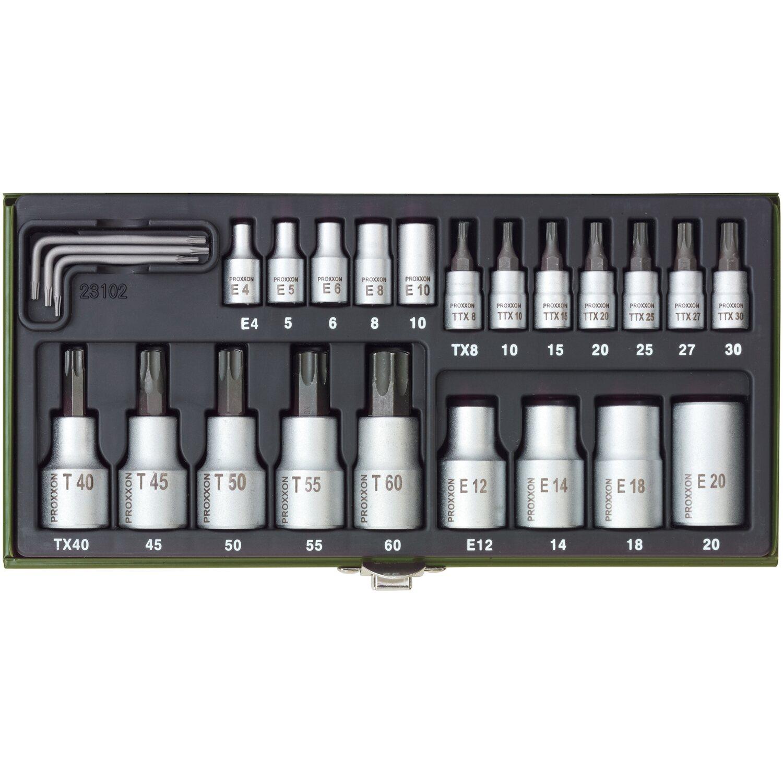 Proxxon Steckschlüsselsatz TX 1/4 und 1/2 24-tlg.
