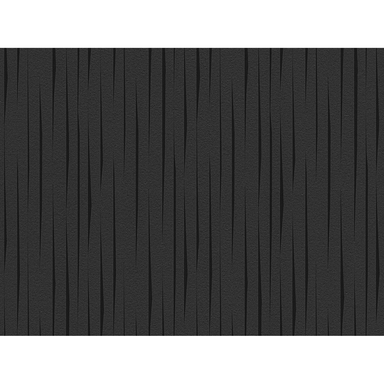 Aisslinger Vliestapete Streifen Anthrazit