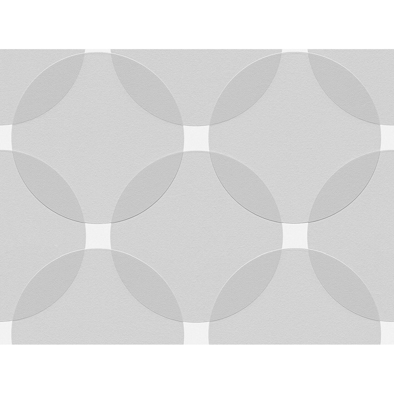 Aisslinger Vliestapete Kreise Grau