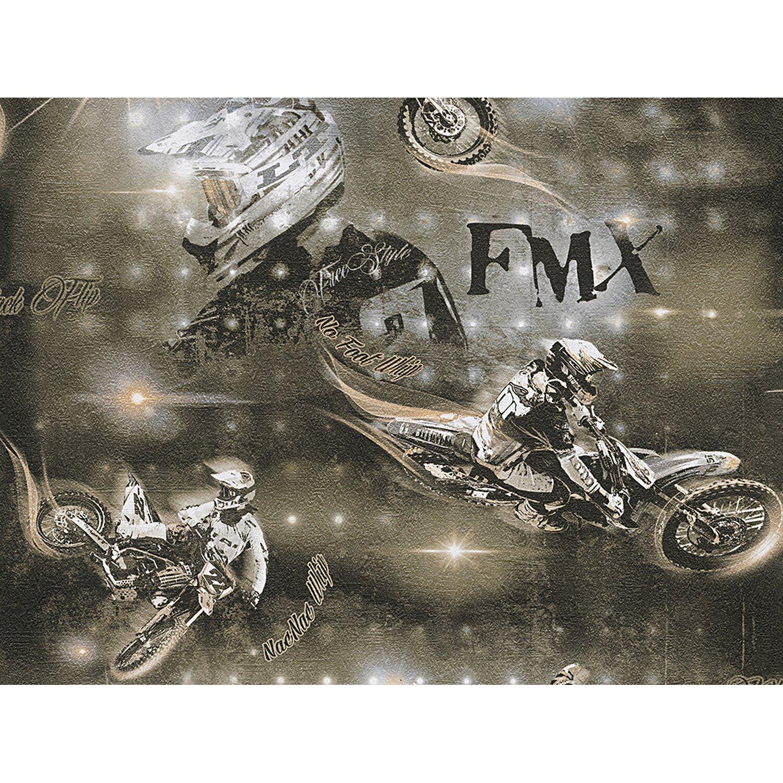 AS Creation A.S. Creation Papiertapete Boys & Girls 5 Motocross Braun