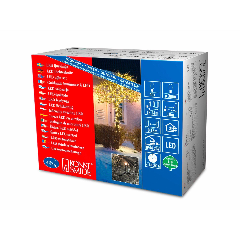 Bauhaus Weihnachtsbeleuchtung Aussen.Konstsmide Micro Led Lichterkette 40 Warmweiße Leds Innen Und Außen