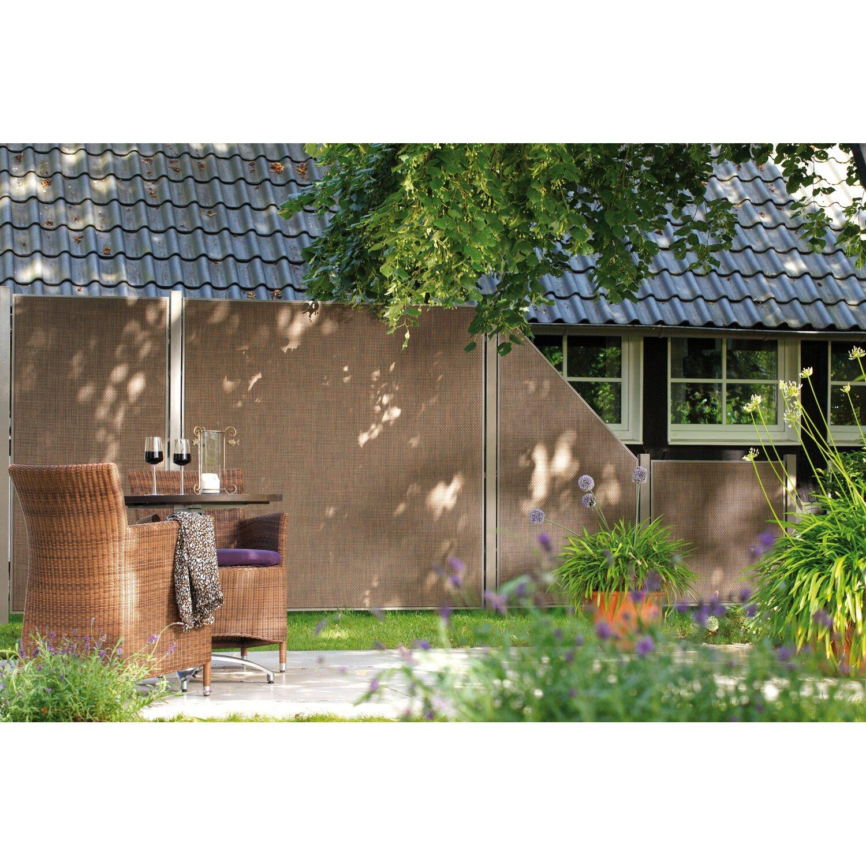 Gartenzaun Element Weave Lüx Rechteck Bronze 88 cm x 88 cm kaufen
