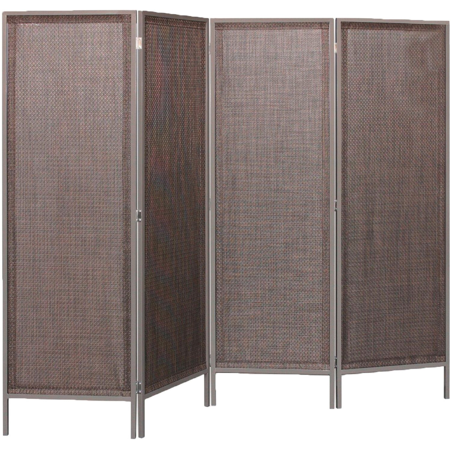 gartenzaun paravent weave l x 4 teilig bronze 225 cm x 180 cm kaufen bei obi. Black Bedroom Furniture Sets. Home Design Ideas
