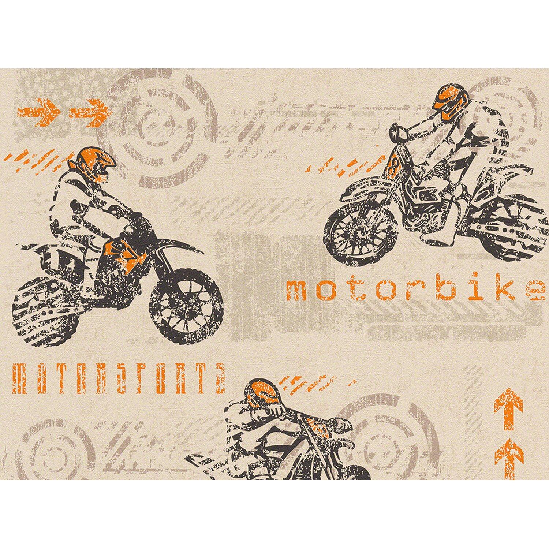 AS Creation A.S. Creation Papiertapete Boys & Girls 5 Motocross Beige
