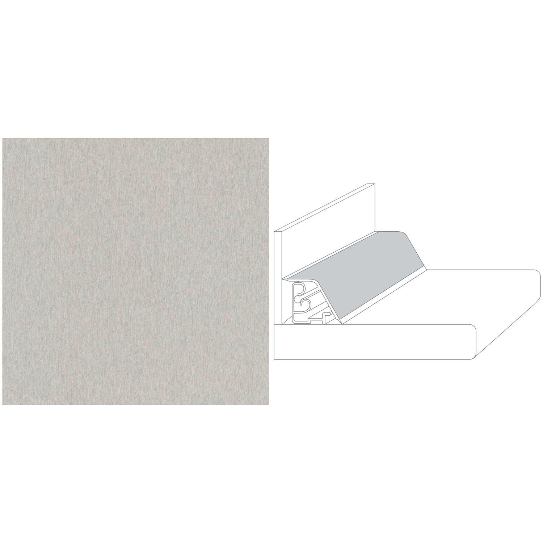 Wandanschlussleiste Compact 59 x 3,5 cm Metall Edelstahl (ME 478 ... | {Abschlussleiste arbeitsplatte edelstahl 16}
