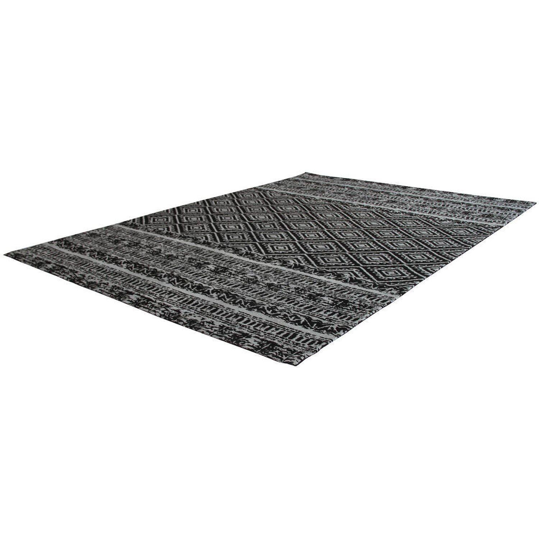 Kayoom Teppich Sunny 110 Schwarz 120 cm x 170 cm | Heimtextilien > Teppiche > Sonstige-Teppiche | Muster | Polyester | Kayoom