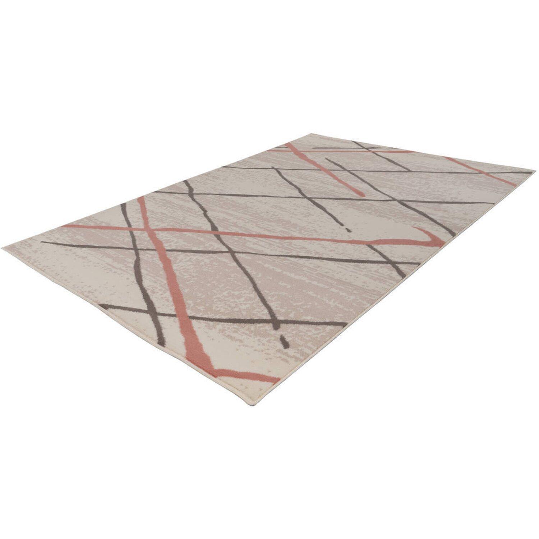 Kayoom Teppich Vancouver 110 Creme-Braun-Rosé 120 cm x 170 cm | Heimtextilien > Teppiche > Sonstige-Teppiche | Muster | Kayoom