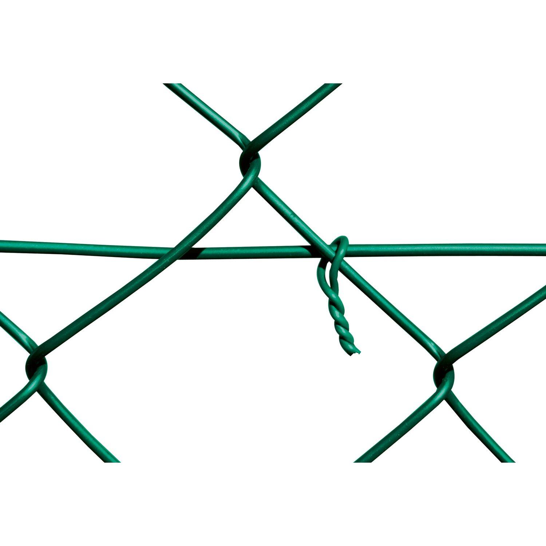 Maschendrahtzaun Komplett Set 1 m x 15 m Grün kaufen bei OBI