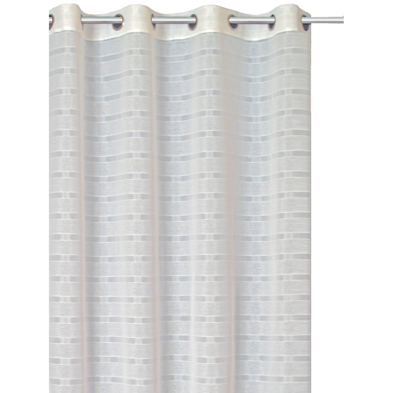 Bennetti Ösenschal Webstreifen Weiß 140 cm x 245 cm