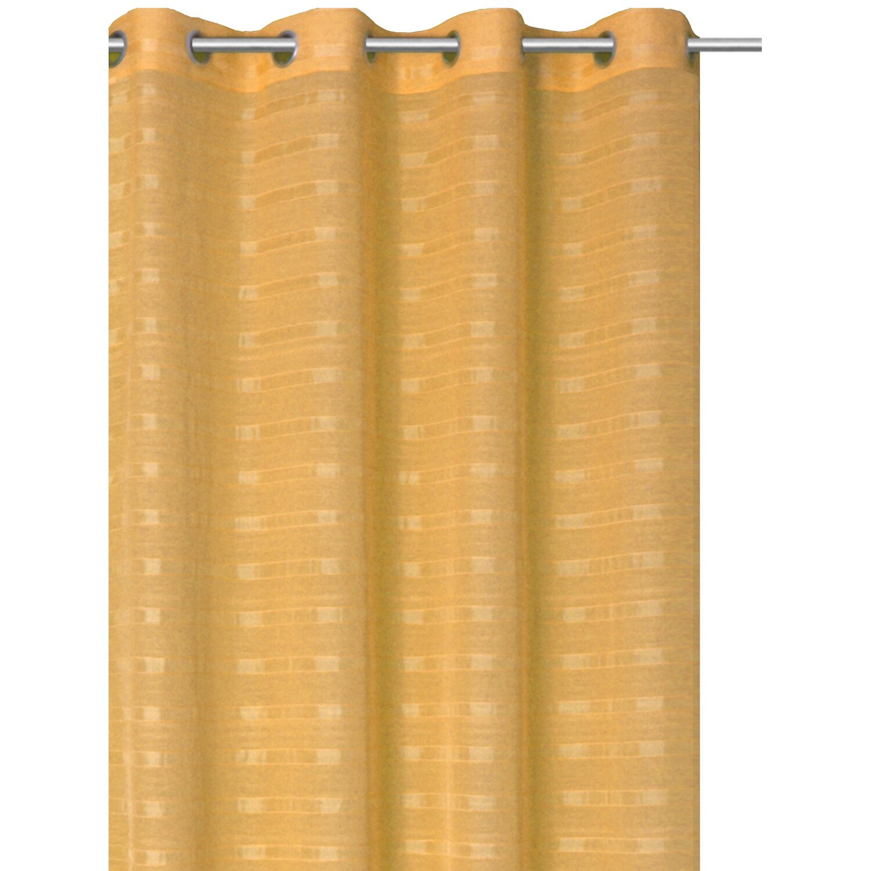 Bennetti Ösenschal Webstreifen Apricot 140 cm x 245 cm