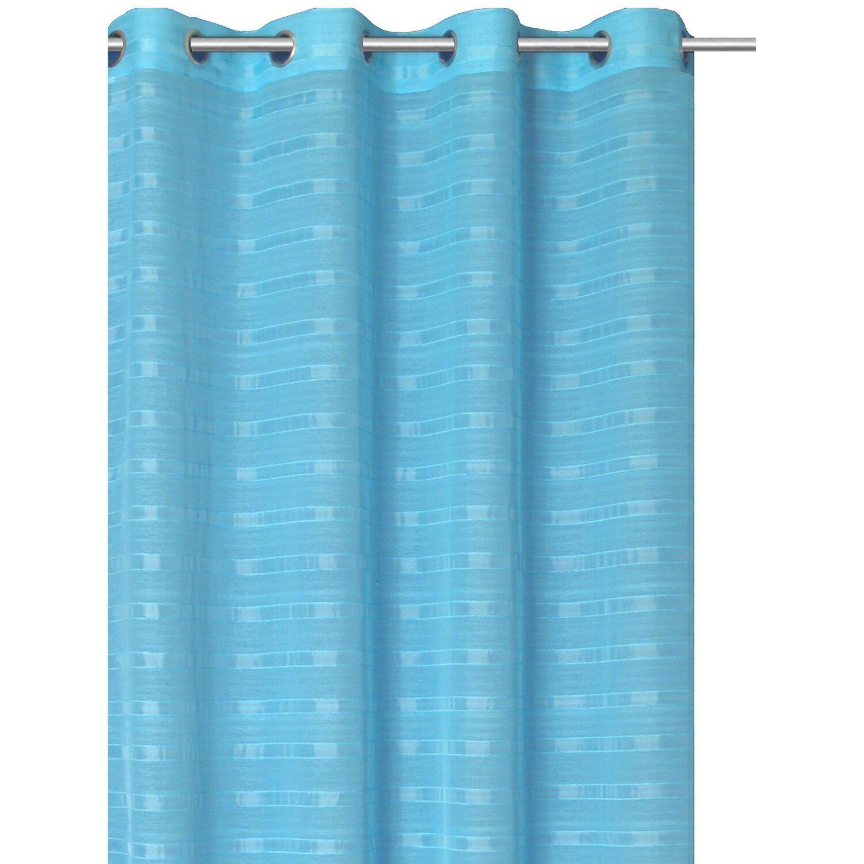 Bennetti Ösenschal Webstreifen Aqua 140 cm x 245 cm