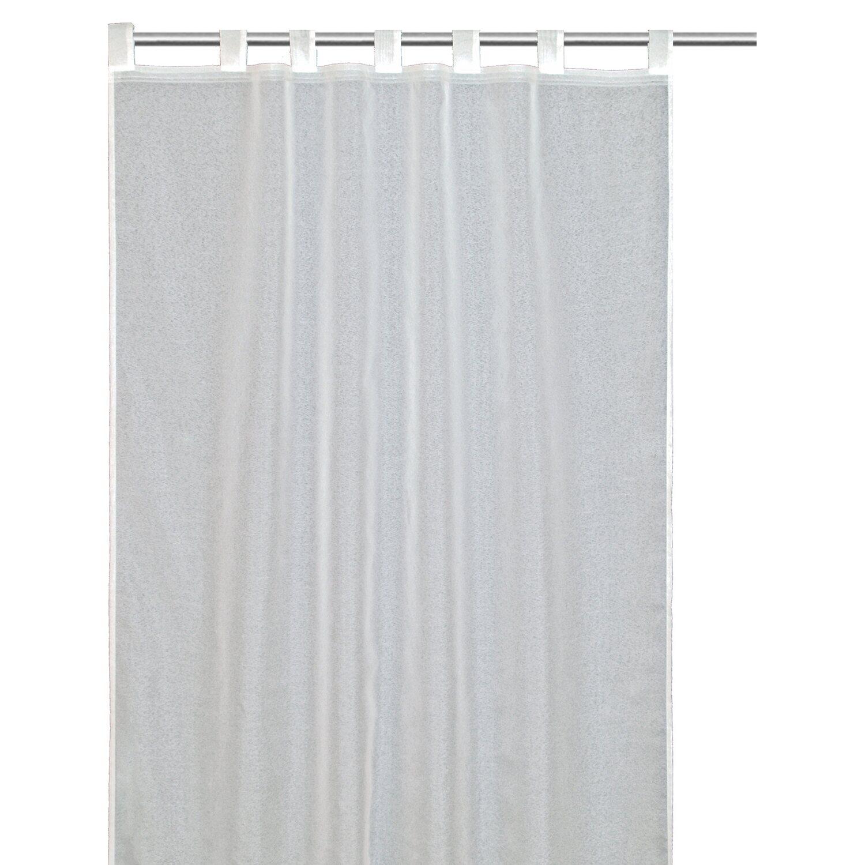 Gardinenband Kaufen: Schlaufenschal Mit Gardinenband Snowvoile Weiß 140 Cm X