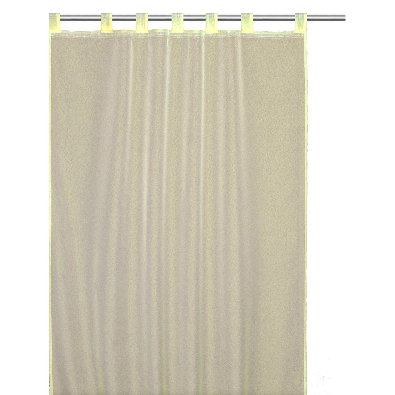 Gardinenband Kaufen: Schlaufenschal Mit Gardinenband Snowvoile Gelb 140 Cm X
