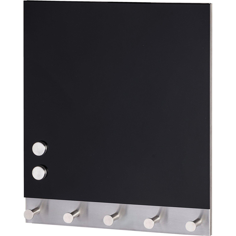 Wenko Magnetische Garderobe Black 5 Haken 30 cm x 34 cm