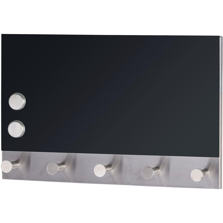 Wenko Magnetische Garderobe Black 5 Haken 30 cm x 19 cm