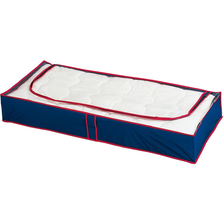 Wenko Unterbettkommode Blau-Rot 8er Set 15 cm x 100 cm x 45 cm