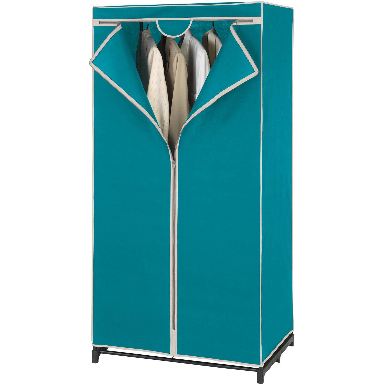 wenko kleiderschrank breeze petrol creme 150 cm x 75 cm x. Black Bedroom Furniture Sets. Home Design Ideas
