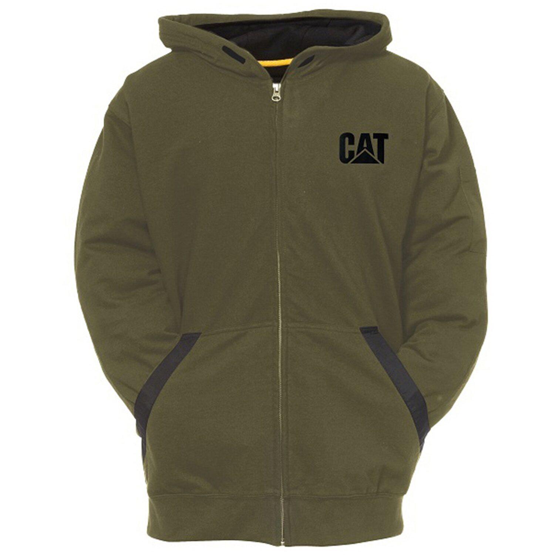 Cat  Kapuzenjacke Tec Moosgrün XL