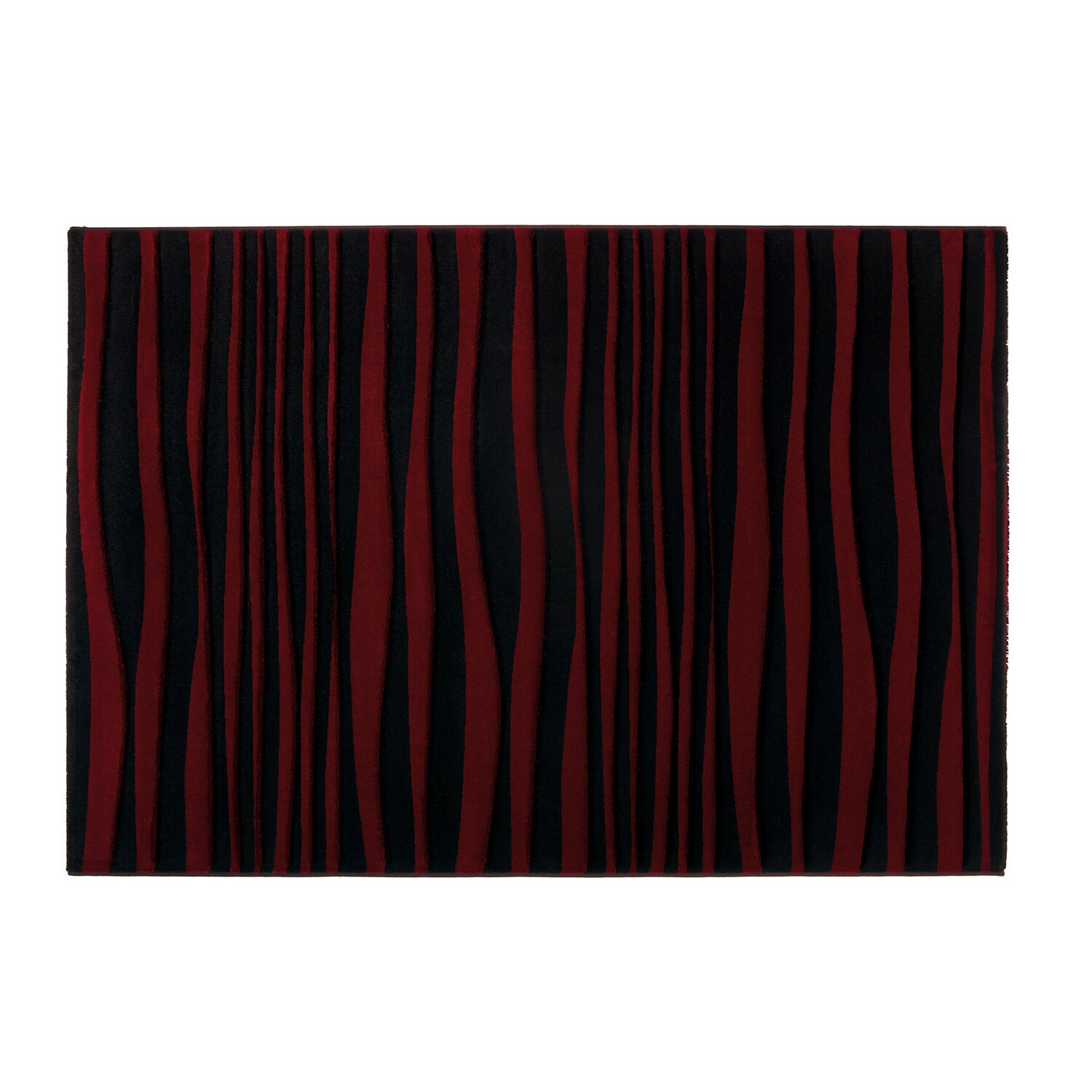 contzen teppich zebra schwarz rot 120 x 180 cm kaufen bei obi. Black Bedroom Furniture Sets. Home Design Ideas