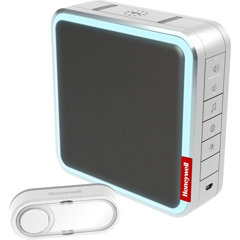 Honeywell MP3-Funk-Gong-Set mit Reichweitenverstärker Silber-Grau ...
