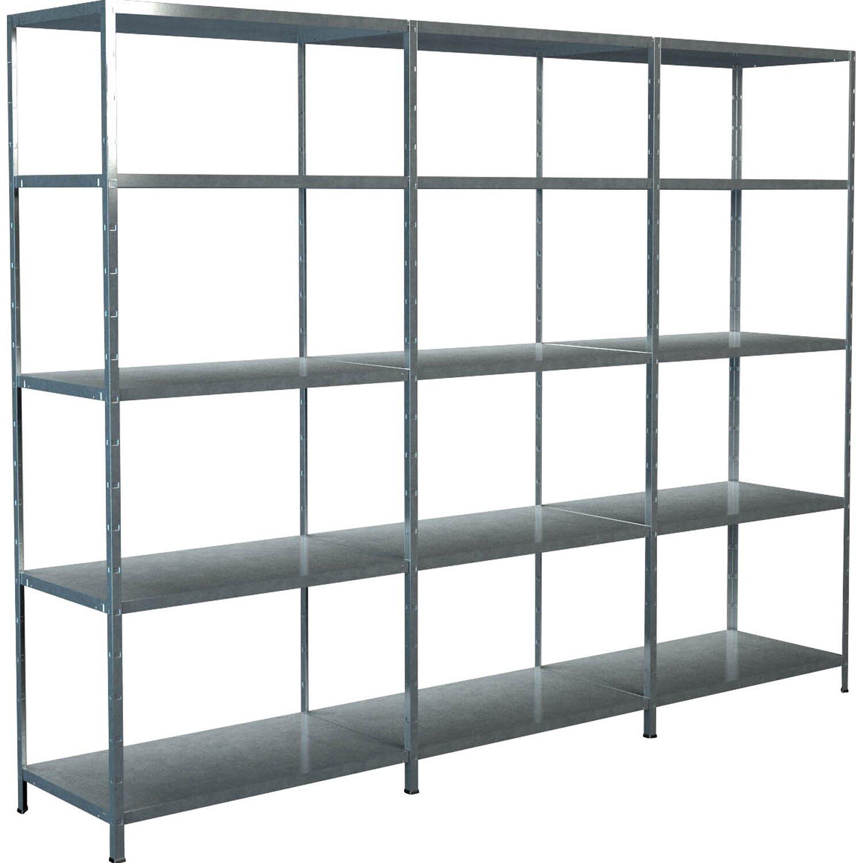 schulte regal set 1 steckregal 2 anbauregale 200 cm x 260 cm x 50 cm verzinkt kaufen bei obi. Black Bedroom Furniture Sets. Home Design Ideas