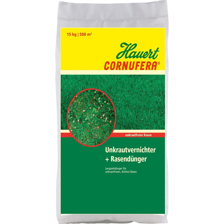 Hauert  Cornufera UV Unkrautvernichter plus Rasendünger 15 kg