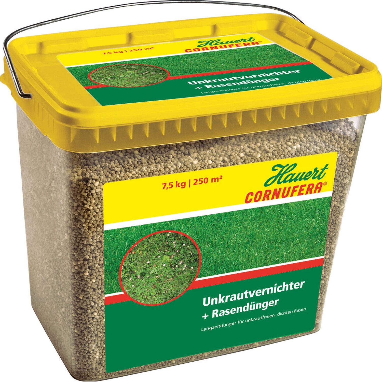 Hauert  Cornufera UV Unkrautvernichter plus Rasendünger 7,5 kg