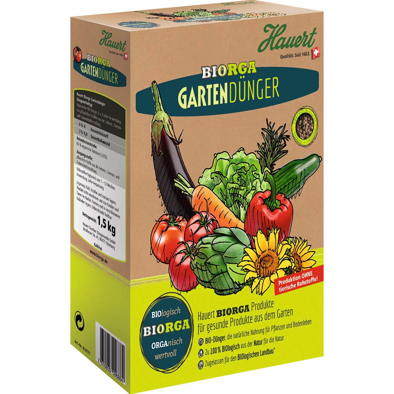 Hauert  Biorga Gartendünger 2 x 1,5 kg